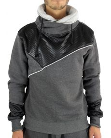 Sweat homme col châle anthracite