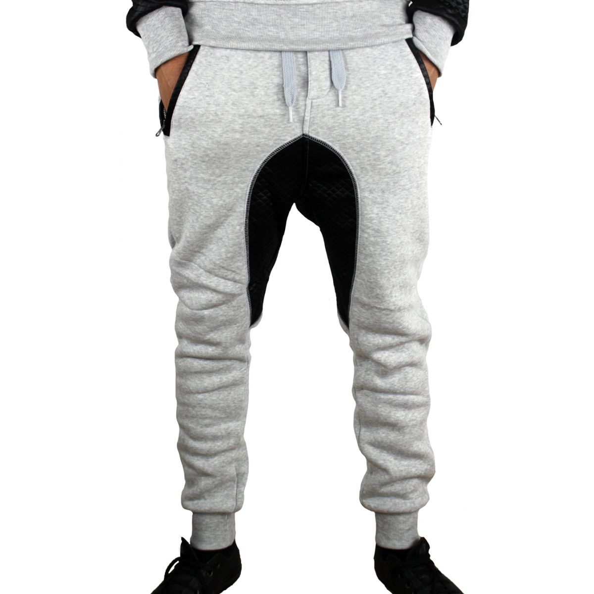 Sarouel homme en molleton gris