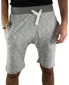 Short sarouel homme chiné gris