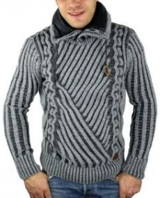 Pull homme fashion gris