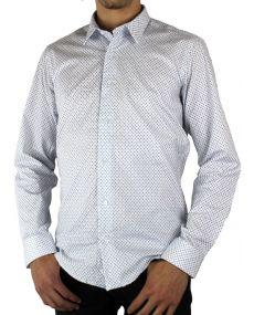 Chemise homme imprimée blanche