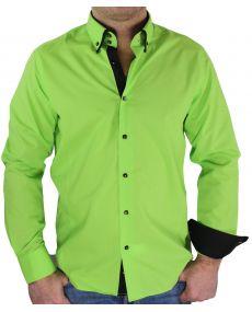 Chemise Double col vert noir