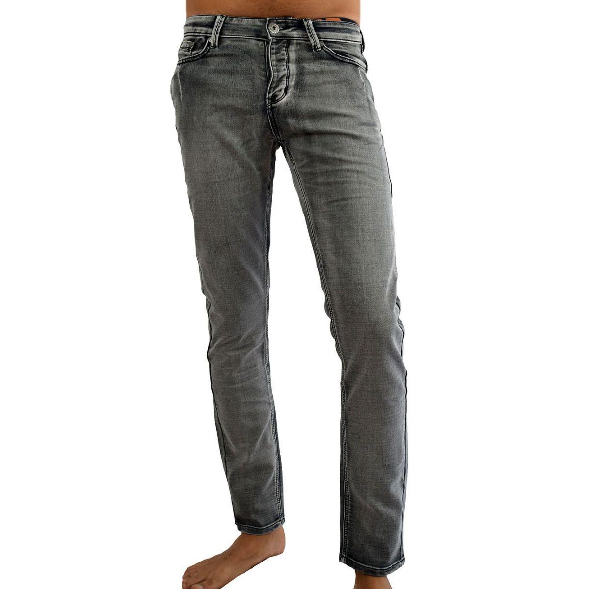 jeans homme fashion gris d lav nervur. Black Bedroom Furniture Sets. Home Design Ideas