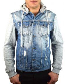 veste jean's homme bleu