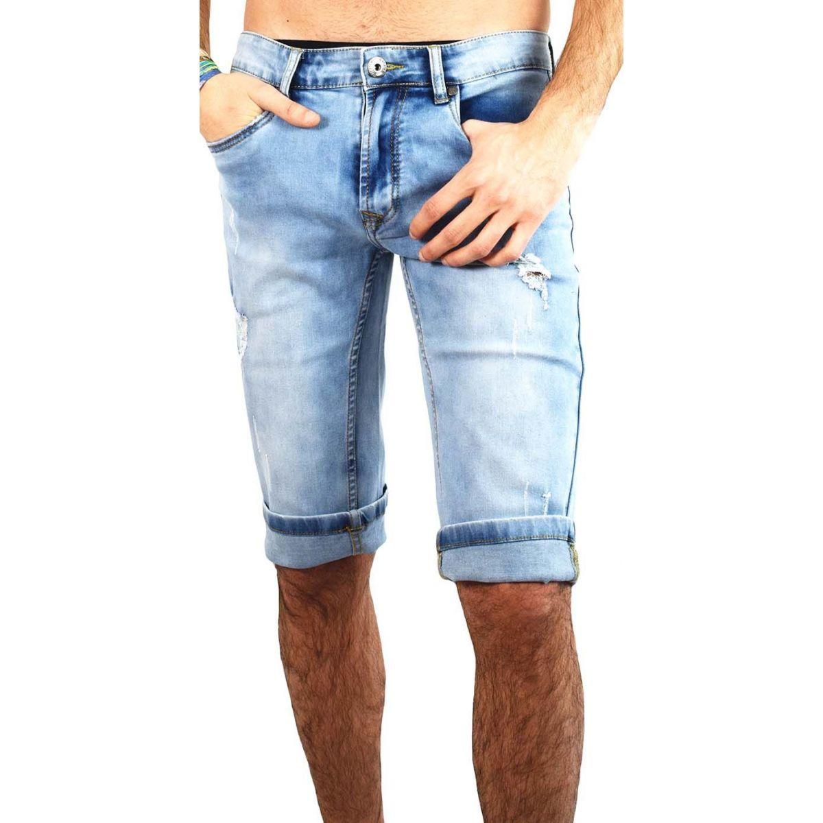 bermuda jean homme 501 short en jean d lav bleu fashion. Black Bedroom Furniture Sets. Home Design Ideas