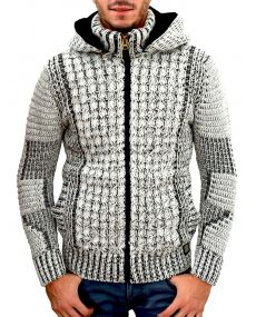 Gilet homme fashion fourré blanc