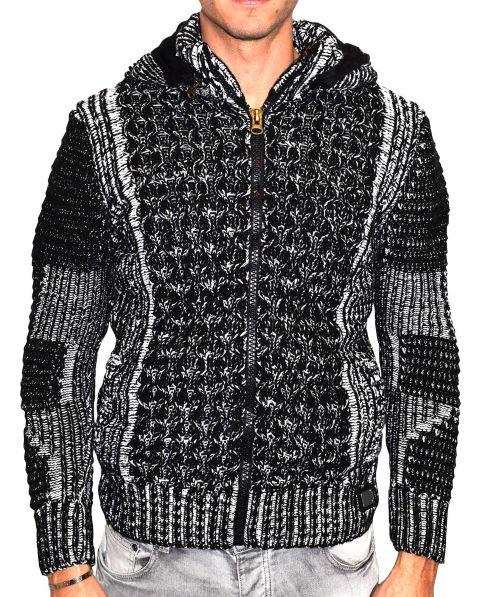 Gilet homme fashion fourré noir